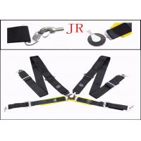 China Auto Parts Car Safety Seat Belts , Flexibility Fabric Black Retractable Seat Belts wholesale