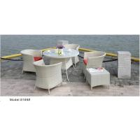 Quality 6pcs outdoor dining set with 4pcs chairs 1 ottoman-8169 for sale