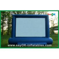 China Blue Large Inflatable Movie Screen Rental For Backyard Movie Theater on sale