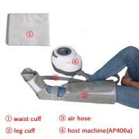 China Non - Woven Air Compression Leg Massager For Foot Calf And Thigh Circulation on sale