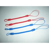 China Custom Red/Blue Mini Short Pen Spiral Tethers w/Different Nylon Strap on Both Ends wholesale