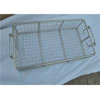 China Stainless Steel Metal Wire Basket With Handle For Put Storage wholesale