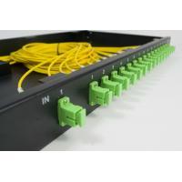 China 19 Inch ODF 24 Port PLC Fiber Optic Splitter Patch Panel Rack Mounted wholesale