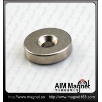Quality neodymium magnet with screw hole for sale