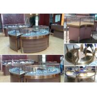 China Elegant Design Countertop Jewelry Display Cases Stable Stainless Steel Frame Wood wholesale