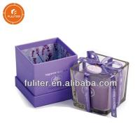 Buy cheap Glossy Lamination Wooden Luxury Candle Box With Dividers For 6 Candles from wholesalers
