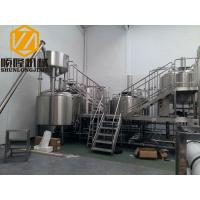 Quality SS 5000L Beer Production Equipment Complete System 2mm Cladding for sale