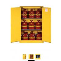 China Horizontal Petrol Drums Storage Cabinets Double Door For Storing 55 Gallon Drum wholesale