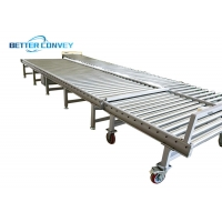China Flat Bottoms T Slot 75 Mm Chain Drive Roller Conveyor Equipment wholesale