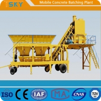 China Accurate Weighing HZS35 Mobile Concrete Batching Plant wholesale