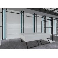 China Simple Nice Men Clothing Display Case / Apparel Store Fixtures Glossy White Color wholesale