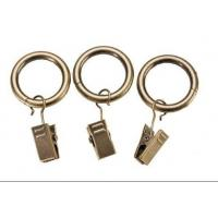 China Iron curtain pole rings with clips wholesale