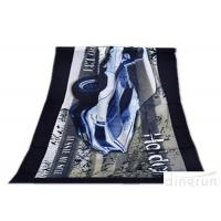 China Super Soft Durable Velour Beach Towels Personalized For Family wholesale