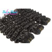 "China Nice 12"" 14"" Deep Wave Cambodian Hair Bundles Double Wefted Hair Extensions wholesale"