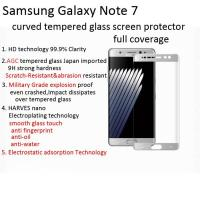 China tempered glass screen protector for galaxy note 7/samsung note 7 3D curved edge to edge Scratch-Resistant shatterproof wholesale