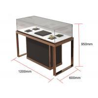 China Brown + Mirror Rose Gold Jewelry Display Cases , Diamond Jewelers wholesale