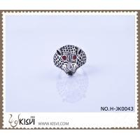 China Unique fashion design #11 / #8 316l Stainless Steel Leopard Ring H-JK0043 wholesale