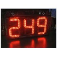 China Digital Clock Remote Tri Color LED Gas Station Sign Ultra Thin High Brightness wholesale