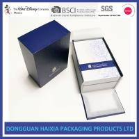 China Blue And White Rigid Gift Boxes Light Weight Packaging Boxes For Cosmetics wholesale