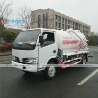 China Right Hand Drive Dongfeng 95HP 4m3 Septic Vacuum Trucks wholesale