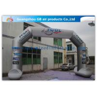 China 8 x 5m Grey Custom Inflatable Arch Full Color Printing for Sporting Events wholesale
