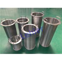 China Long Slit Type Self Cleaning Wedge Wire Filter Elements 500 Micron High Precision wholesale