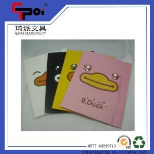 China Office & School Supplie Printed PP Stationery Translucent Elastic Closure File Folder on sale