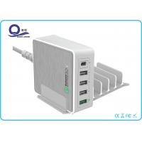 China 5 Ports 40W Qualcomm Quick Charger 3.0 Type C Output charger for Universal Charge wholesale