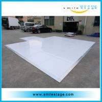 Buy cheap Portable laminate high gloss white dance floor for events product