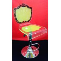 China Customized Decorative Modern Acrylic Furniture , Clear Yellow Acrylic Chair wholesale