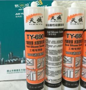 China Doors Acetoxy Silicone Sealant Organic One Components Adhesives wholesale