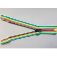 Quality Rainbow Coloured Cotton Webbing Straps Gradient Teeth Zipper With Original for Garment for sale
