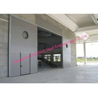 China Large Openings Vertical Sliding Industrial Garage Doors Motorised Heavy Sliding Doors With Steel Track on sale