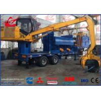 China Light Scrap Metal Logger Baler Mobile Bailing Press Machine With Grab and Diesel Engine wholesale