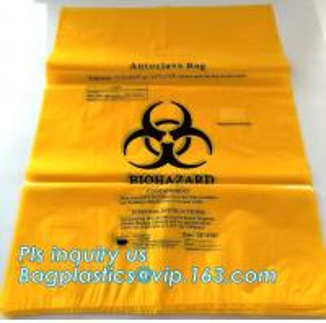 China Bio Degradable Hospital Biohazard Waste Garbage Plastic Rubbish Bag For Garbage, Biodegradable Medical Biohazard Waste B wholesale