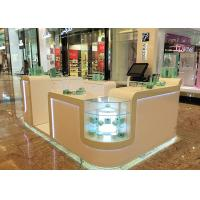 China White Cosmetic Display Case Modern Style Small Space For Shopping Mall Display wholesale