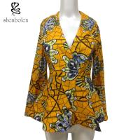 China Fashion Design Women African Ladies Jackets Long Flare Sleeve Wax Printed wholesale