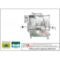 China 10g-100g Lotion Cream Jar Filling And Capping Machine For Cosmetics Industry wholesale
