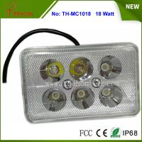 China 18W Rectangle LED Work Light, LED Headlight for Motorbike, Replacing halogen lamp or HID on sale
