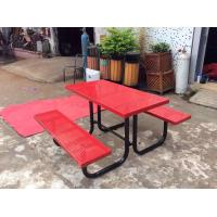 China 4 People Outdoor Dining Table And Chair , Multifunctional Canteen Table And Chair wholesale