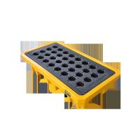 Quality 4 Drum / 2 Drum Spill Containment Pallet With Drain For Oil Drum for sale