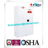 China Chemical Security Hazardous Storage Cabinets White With Electronic Lock wholesale