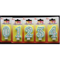 China Best Selling-Factory Handmade number candle with the Green Edge AND 3 colors line painted wholesale