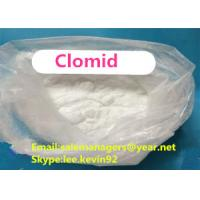China Best Raw Steroid Powders Clomid white Clomiphene Citrate 50-41-9 Antiestrogen Steroids wholesale