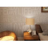 China 0.53*10M Modern Non - woven Wallpaper , Fashion LOVE English Letters Wallpaper wholesale