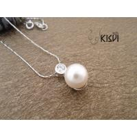 China Fashion Jewelry 2.16g 925 Sterling Silver Gemstone Pendant with Imitated Pearl W-VB700 wholesale