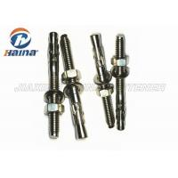 China Stainless Steel Concrete Wedge Anchors A2 A4 Machine Thread With Nut / Washer wholesale