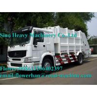 Buy cheap White Sinotruck  Howo  4 x 2 8L 8-12m3 White Color Compacted Garbage truck product