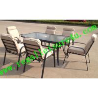 China 2013 new style outdoor padded garden dining furniture set RLF-007CF-1 on sale