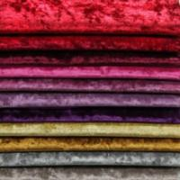 China Knitted Polyester spandex solid diamond velvet sofa fabric on sale